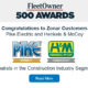 Zonar's Customers Pike Electric and Henkels & McCoy Named To the FleetOwner 500 Awards